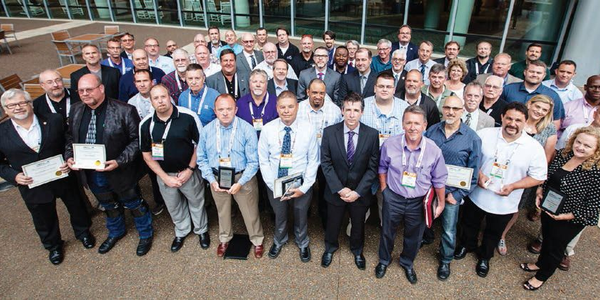 Many of  the 2016 Leading Fleets awards recipients are pictured here after The Honors...