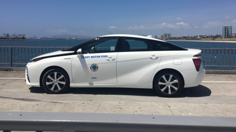 The City of Long Beach, Calif., is testing out a Mirai to determine practicality and operating...