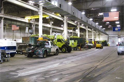 Pictured is Rochester Equipment Services' heavy-duty service area.