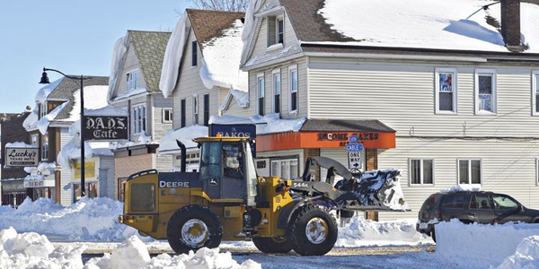 During the November 2014 snowstorm, the city enacted a driving ban so plows could get through....