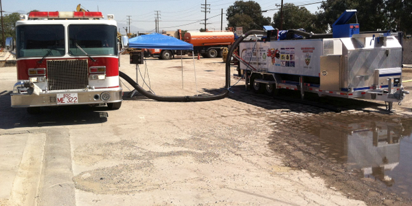 A Draft Commander mobile pump testing trailer helps the San Bernardino Fire Department stay in...