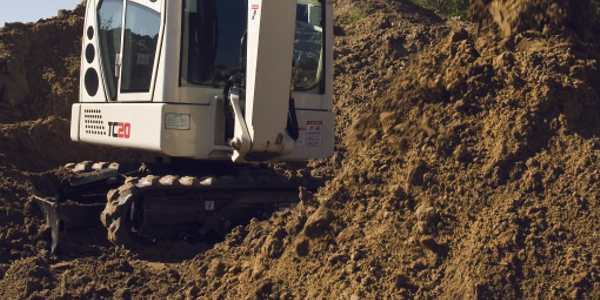 The Terex TC 20 Compact Crawler Excavator has max dig depth of 8 feet 2 inches and max reach of...