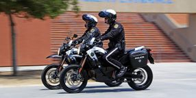 Electric Motorcycles on Patrol