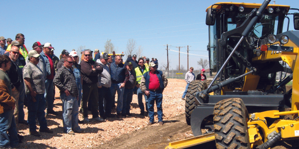Students in the Oklahoma State University Local Technical Assistance Program (LTAP) receive...