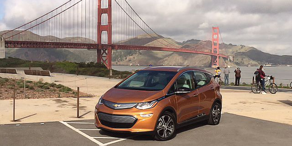Chevrolet is rolling out the Bolt EV in waves, starting with California and Oregon. Photo: Paul...