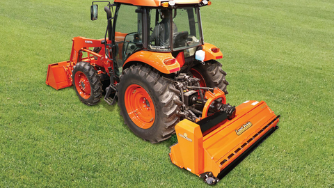 The FM25 is driven by a three-section power band belt.Photo courtesy of Land Pride