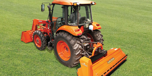 The FM25 is driven by a three-section power band belt. Photo courtesy of Land Pride