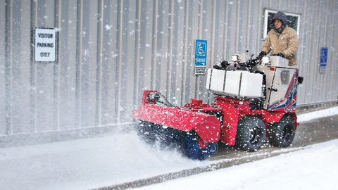 The Ventrac SSV is designed with an arsenal of snow removal attachments and de-icing options....