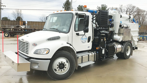 The Vactor HXX Paradigm vacuum excavator is now available in an air-only version. Photo courtesy...