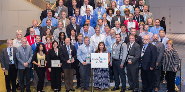 Many of the Leading Fleets award recipients are pictured here after The Honors Celebration at...