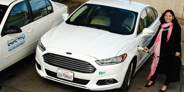 Reyna Ayala with the East Orange County (Calif.) Water District is one of the Ford Fusion...