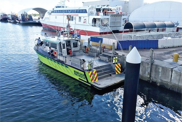 Emergency rescue boats aren't like recreational boats — they usually have minimal insulation, minimal optional features, and can be designed specifically for the agency. Pictured is a Miami-Dade (Fla.) boat. Photo courtesy of Miami-Dade Fire Rescue