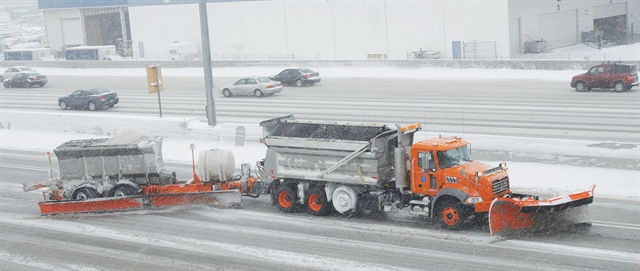 The Utah DOT's tow plows allow one driver to clear two lanes at once. Photo courtesy of Utah DOT