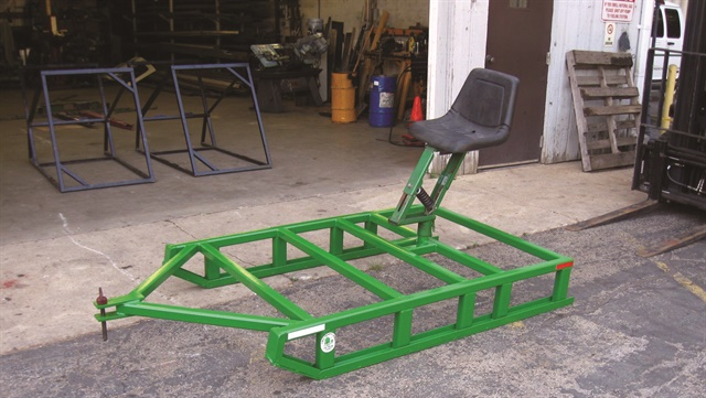 The Forest Preserve District of DuPage County Fleet Shop routinely uses scrap metal. Pictured: a training sled fabricated with scrap metal. Photo courtesy of Forest Preserve District of DuPage County