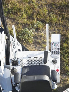 The digger derrick features 360 degrees of ingress/egress to the riding seat. Photo courtesy of Altec