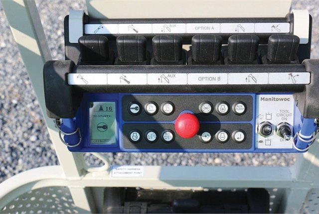 The radio remote control console offers operator-friendly controls. Photo courtesy of Manitowoc