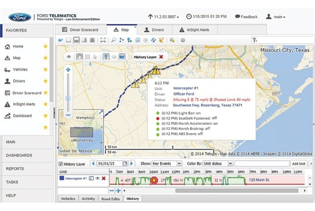 Screenshot of Telogis Ford Telematics courtesy of Telogis.
