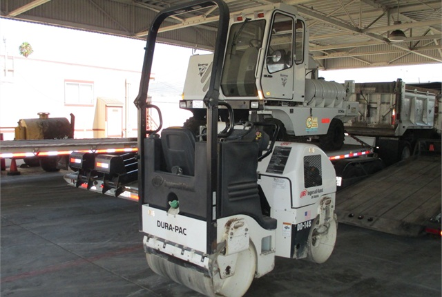 Fleet Manager Karl Vogeley said for how the City of Glendale uses its asphalt roller, it's more effective to own than rent. Photo courtesy of City of Glendale.