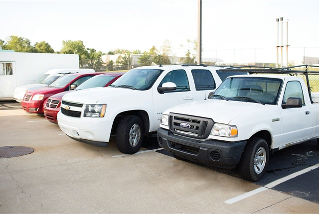 Indiana University Bloomington maintains a fleet of 400 units, from compact cars and SUVs to garbage trucks and snow plows. Photo courtesy of Indiana University