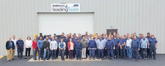 Each City of Columbus, Ohio, fleet employee contributes to the award by being efficient and working on new initiatives.Photo Courtesy of Columbus
