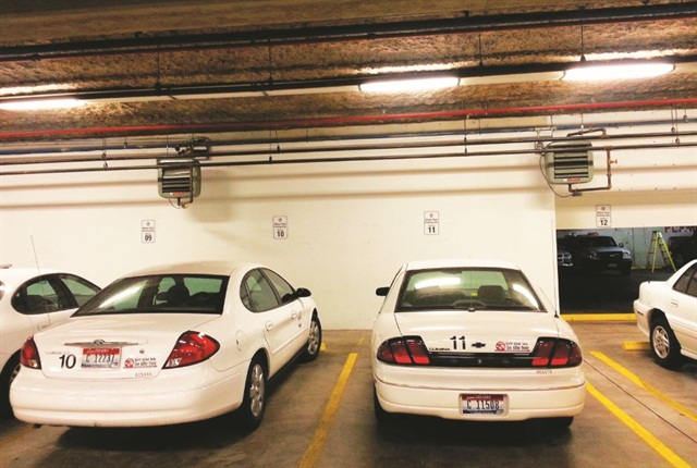 A new vehicle numbering system that assigns matching numbers to a specific vehicle, key, and parking space improved the motor pool experience. Photo courtesy of City of Boise