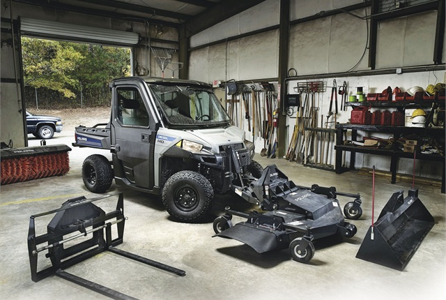 A variety of attachments can turn a utility vehicle into a multi-use vehicle. Pictured is the Polaris Brutus HDPTO. Photo courtesy of Polaris.