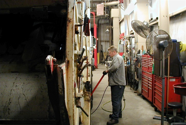 An earlier shift allows technicians to finish preventive maintenance (PM) services before drivers start their shifts in the morning.