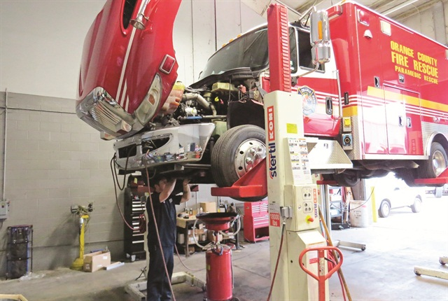 In Orange County, Fla., technicians can now get incentive pay for Emergency Vehicle Technician certifications and ASE Medium and Heavy Truck certifications. Photo courtesy of Orange County