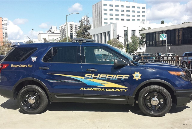 By joining a cooperative contract, Alameda County, Calif., saved 5 cents per gallon for unleaded gasoline. The majority of the county's vehicles, including this Sheriff's SUV, run on gasoline. Photo courtesy of Alameda County