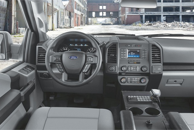 With 131.8 cubic feet of interior space, the truck offers the largest interior passenger volume of any pursuit-rated police vehicle. Photo courtesy of Ford