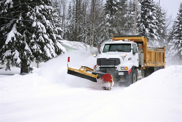 Pavement temperature, weather predictions, time of day, and service expectations can affect plowing and salting strategies.