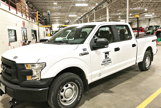 The City of Moline, Ill., is approved to do warranty work on its Ford vehicles, which benefits the fleet's technician training program. Photo courtesy of City of Moline