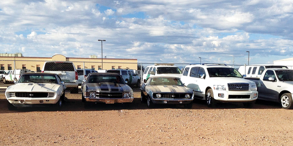 Law enforcement agencies seize a wide variety of vehicles including trucks, SUVs, and classic...