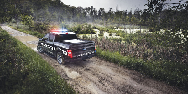 The F-150 Police Responder features best-in-class payload capacity and towing capacity. Photo...