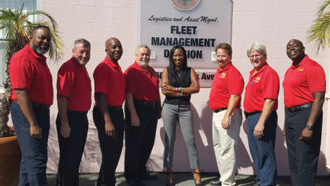 "The City of Tampa fleet management ""dream team"" consists of (l-r): Arturo Betty, John Daff, Earl..."