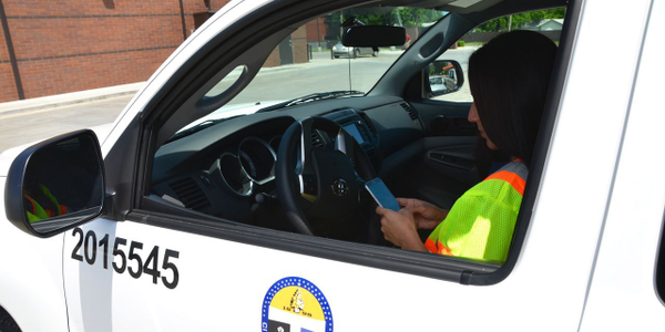 The City of Tulsa (Okla.) encourages its employees to pull over before using a cell phone. Photo...