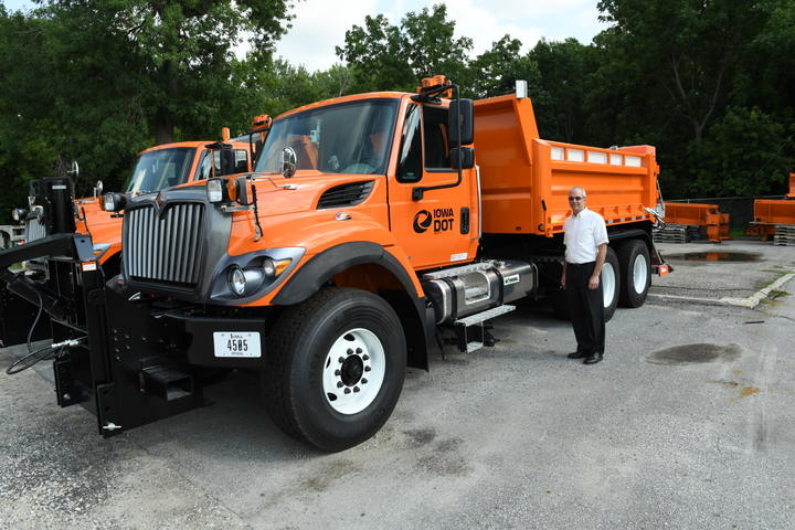 Following a fleet study, Fleet Manager David May decided to shorten the lifecycle of Iowa Department of Transportation plows.