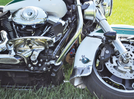 Motorcycles can offer cover and concealment in an emergency. If the bad guys can't see you, then they can't shoot you.Photo: Amaury Murgado