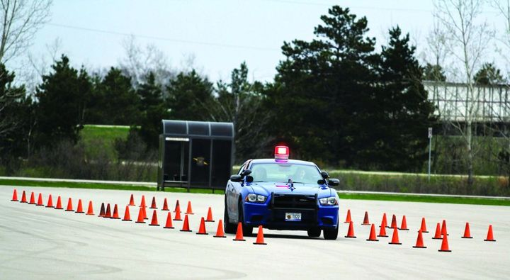 The Michigan State Police provides extensive vehicle-operation training to its recruits.