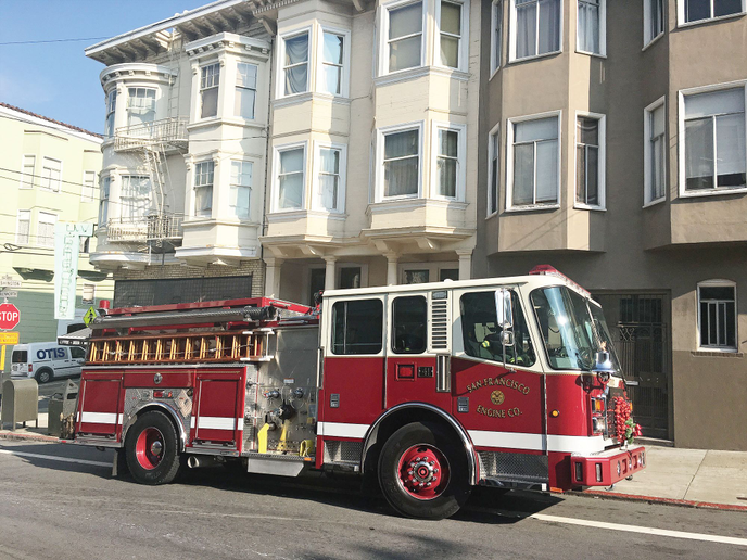 The San Francisco Fire Department's new fire trucks are smaller, have a better turning radius, and have cameras with a 360-degree view.  - Photo courtesy of San Francisco Fire Department
