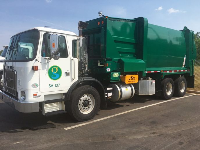 The City of Greenville, S.C., replaced 10 aged rear loaders with six automated side loaders (pictured), allowing it to reduce fleet size.