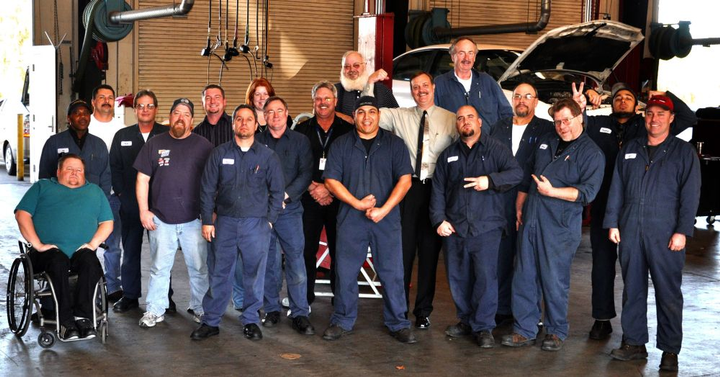 Battersby with his Contra Costa County fleet team, circa 2009