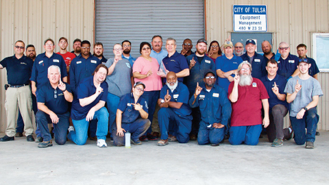Members of the Tulsa Equipment Management Division celebrated their No. 1 designation....