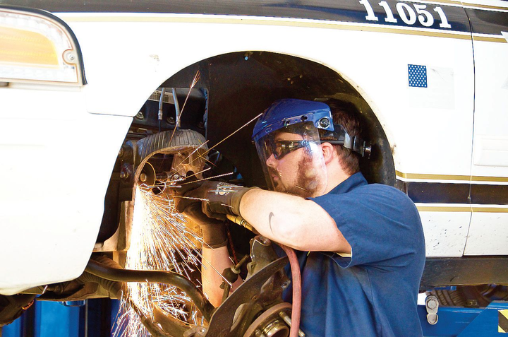 The Tulsa fleet focuses on employee training and development, benefitting employees such as Casey Fletcher, mechanic II.
