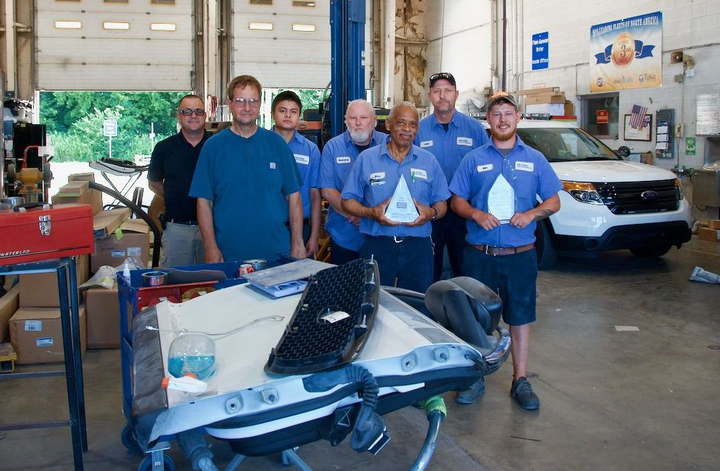 Pictured are fleet staff from the body shop.  - Photo courtesy of City of Tulsa