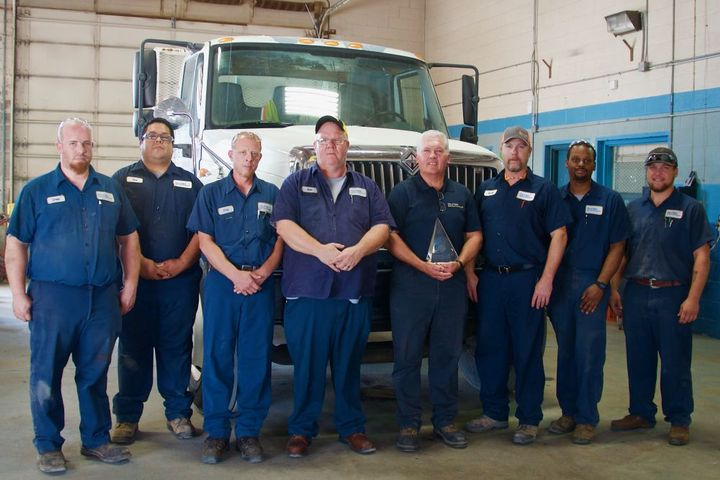 Pictured are fleet staff from the East Yard.