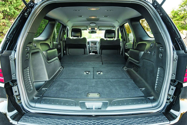 The back of the 2019 Dodge Durango Pursuit provides enough cargo space to make it a good fit for K-9 use.  - Photo by Kelly Bracken