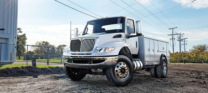 Photo of the 2019 International MV Series courtesy of International Truck