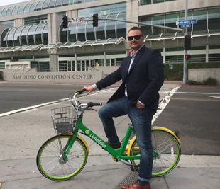 Facundo Tassara has used Lime Bikes and other bike share services throughout his travels. - Photo by Facundo Tassara