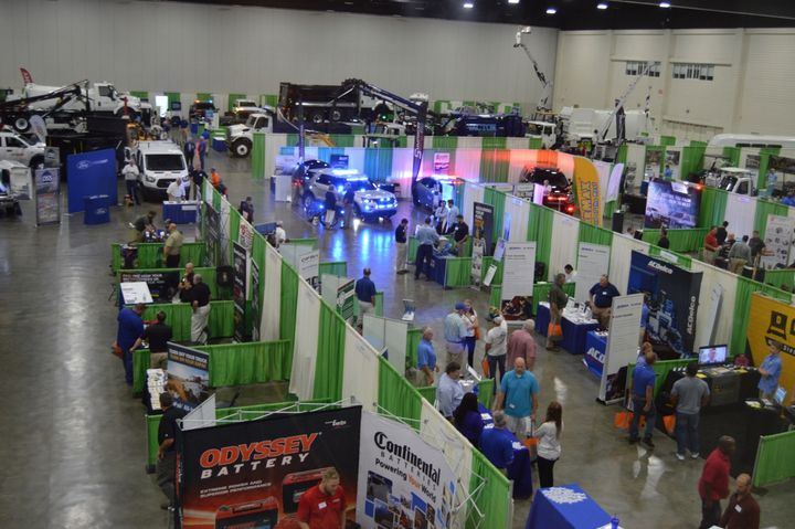 The SGFMA expo hall featured vehicles and equipment from numerous OEMs.